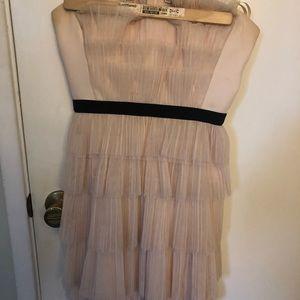 BCBG MaxAzria ruffled light pink dress